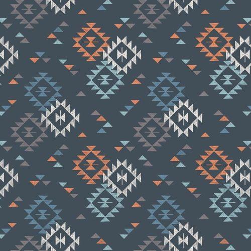 To Catch a Dream Geometric Triangle on Nighttime Blue Native American Navaj