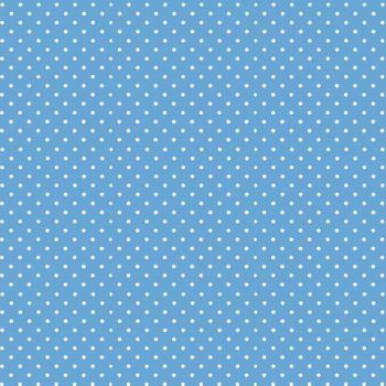 Spot On Cobalt Blue White Polkadot on Pale Blue Spotty Dotty Cotton Fabric