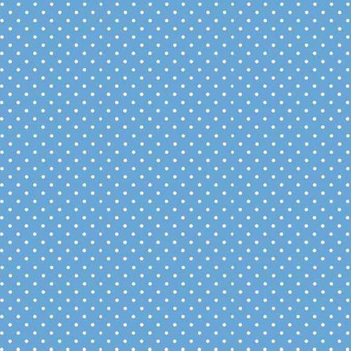 Spot On Cobalt Blue White Polkadot on Pale Blue Spotty Dotty Cotton Fabric