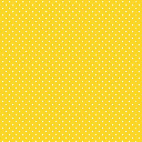 Spot On Sunshine Yellow White Polkadot on Yellow Spotty Dotty Cotton Fabric