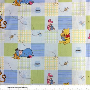 Disney Winnie the Pooh and Friends Nursery Character Set Patch Piglet Eeyore Tigger Cotton Fabric