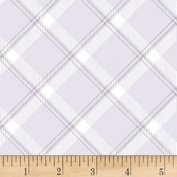 Breezy Baby Lullaby Plaid Grey Blender Coordinate Filler Nursery Cotton Fabric