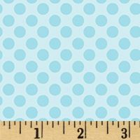 REMNANT Breezy Baby Lullaby Dot Aqua Turquoise Blue Polkadot Spotty Dotty Blender Nursery Cotton Fabric