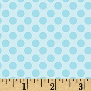 Breezy Baby Lullaby Dot Aqua Turquoise Blue Polkadot Spotty Dotty Blender Nursery Cotton Fabric