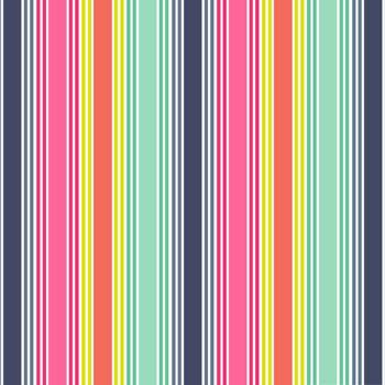 Fantasy Multi Coloured Stripe Unicorn Rainbow Colour Striped Cotton Fabric