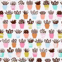 DESTASH 3.57m Length Erin McMorris Intermix Terra Petal Succulent Cactus Cacti Cotton Fabric