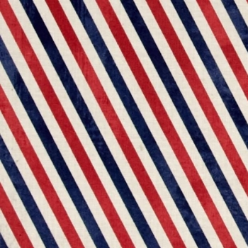 Postal Stripes Air Mail Red Blue Eclectic Elements Correspondence Cotton Fabric