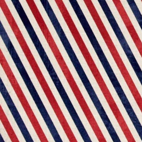 Postal Stripes Air Mail Red Blue Eclectic Elements Correspondence Cotton Fa