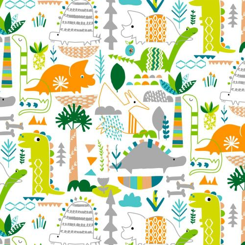Dinosaurs Jurassic Dino Rumpus Dinosaur Novelty Cotton Fabric