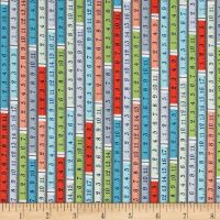 Sewing Room Tape Measure Ruler Measuring Tape Sewing Theme Cotton Fabric