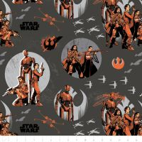 Star Wars Rogue One Rebels Carbon Jyn Erso Cassian Andor K-2SO Baze Malbus Chirrut Imwe X-Wing Cotton Fabric