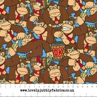 Nintendo Donkey Kong Game Characters Packed Gamers Video Game Cotton Fabric