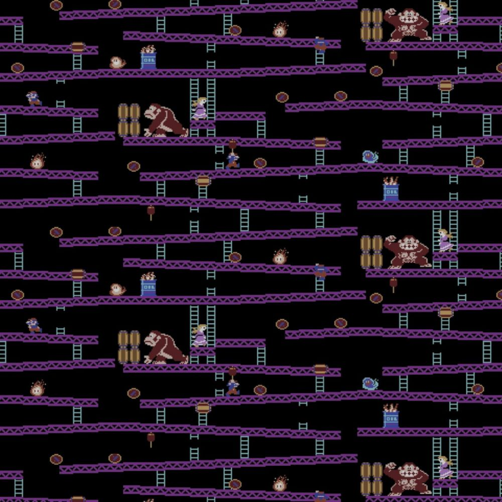 Nintendo Donkey Kong Jumpman's Ascent Game Scenes Gamers Video Game Cotton