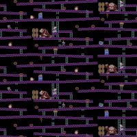 Nintendo Donkey Kong Jumpman's Ascent Game Scenes Gamers Video Game Cotton Fabric