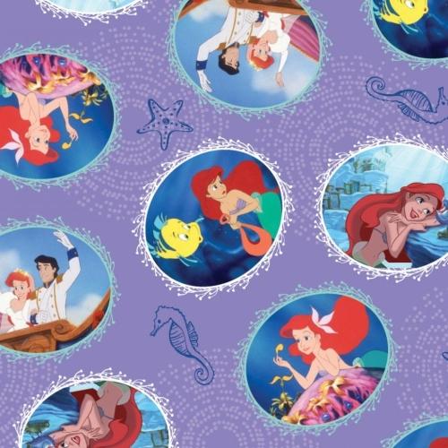 Disney Princess Little Mermaid Fairy Tale Ending Purple Ariel Flounder Cott
