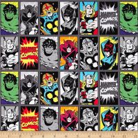 Marvel Comic Book Heroes Iron Superhero Thor Nova Incredible Hulk Black Widow Hawkeye Cotton Fabric