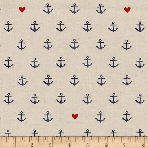 S.S. Bluebird You're My Anchor Natural Hearts Anchors Nautical Sailor Saili