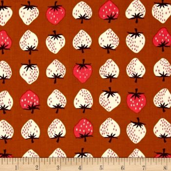 Yours Truly Strawberry Gold Cotton + Steel Cotton Fabric