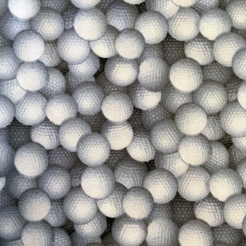 Sports Golf Balls Golfer Golfing Cotton Fabric by Fabri-Quilt