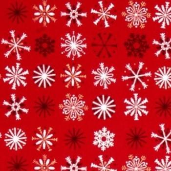 Snowflake Traditional Metallic Snowflakes Christmas Holiday Winter Festive Cotton Fabric