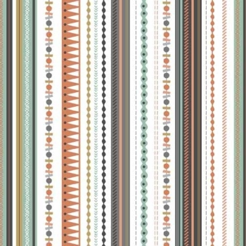 Modern Metallic Christmas Modern Metallic Gold Stripe Silver Grey Winter Cotton Fabric