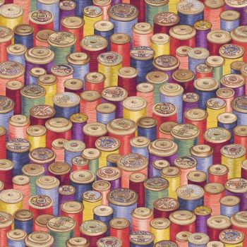 REMNANT Haberdashery Cotton Reels Thread Spools Cotton Fabric