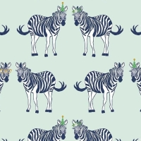 Safari Party Main Zebra Mint Metallic Sparkle Gold Zebras Cotton Fabric