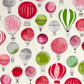 Paris Adventure Hot Air Balloons Garden Balloon Flight Nursery Cotton Fabric