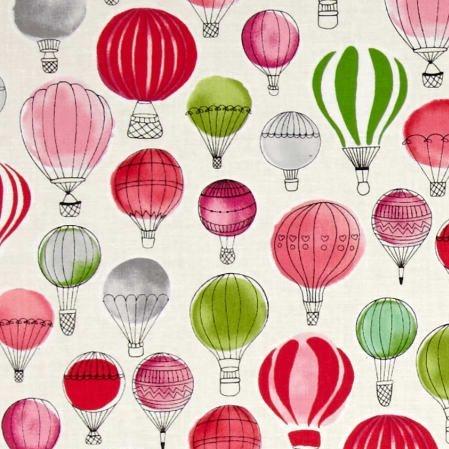 Paris Adventure Hot Air Balloons Garden Balloon Flight Nursery Cotton Fabri