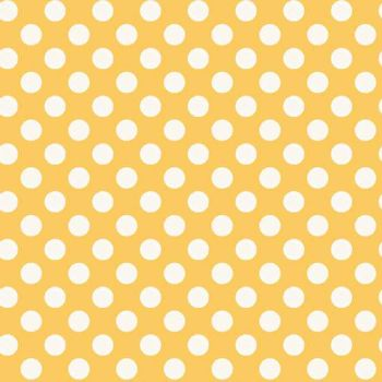 REMNANT Spot Yellow White Polkadot on Sunshine Yellow Spotty Dotty Cotton Fabric