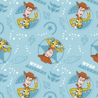 Toy Story Disney Pixar Woody Sherriff Cowboy Wild West Star Cotton Fabric