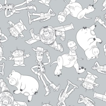 Toy Story Disney Pixar Woody Buzz Lightyear Rex Hamm Alien Cowboy Cotton Fabric