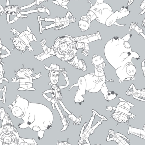 Toy Story Disney Pixar Woody Buzz Lightyear Rex Hamm Alien Cowboy Cotton Fa