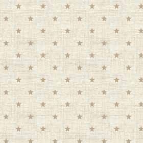Scandi Hessian Stars Linen Christmas Holiday Winter Cream Cotton Fabric