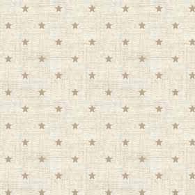 Scandi Hessian Stars Linen Christmas Holiday Winter Cream Cotton Fabric