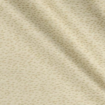 Traditional Metallic Christmas Gold Dash on Cream Blender Cotton Fabric