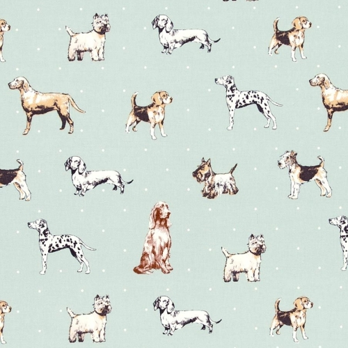 Best of Show Duckegg Dog Breeds Dogs Upholstery Weight Cotton Fabric per ha