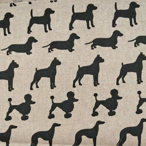 Chatham Glyn Dog Breeds Dogs Silhouette Upholstery Weight Cotton Fabric per
