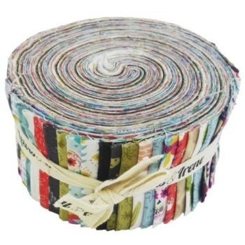 Lewis and Irene Paracas Alpaca Llama Cactus Skulls Jelly Roll Quilting Strips