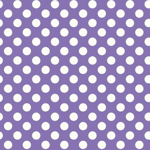 REMNANT Spot Purple White Polkadot on Purple Spotty Dotty Cotton Fabric