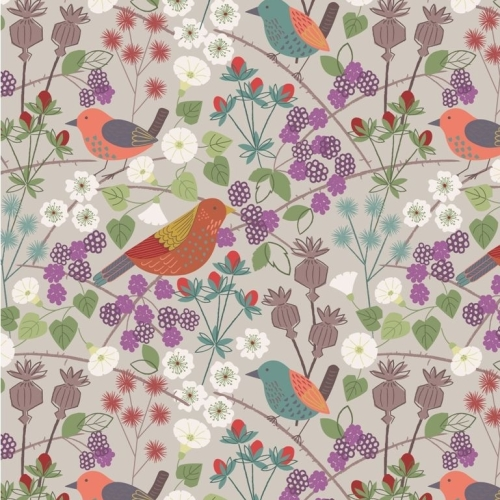 REMNANT The Hedgerow Birds Berries Flowers Nature British Wildlife Cotton F