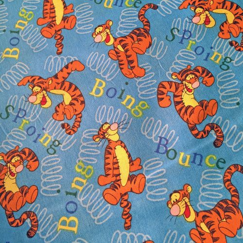 Disney Winnie the Pooh Tigger Bounce Blue Cotton Fabric
