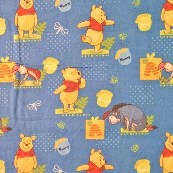 Disney Winnie the Pooh Honeypot Hive Piglet Eeyore Cotton Fabric