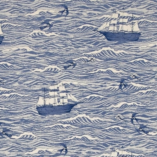 REMNANT S.S. Bluebird Sailing Boat Ship Nautical Out To Sea Blue Waves Ocea
