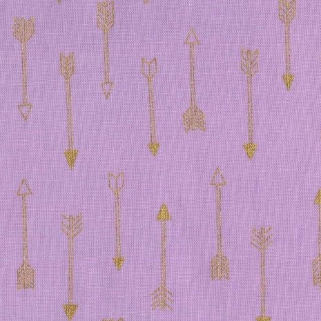 Mini Arrow Flight Opal Catching Dreams Gold Metallic Arrows on Lilac Pink C