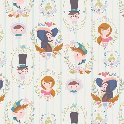 Neverland Darling Wall Cream Character Peter Pan Wendy Captain Hook Tinkerb