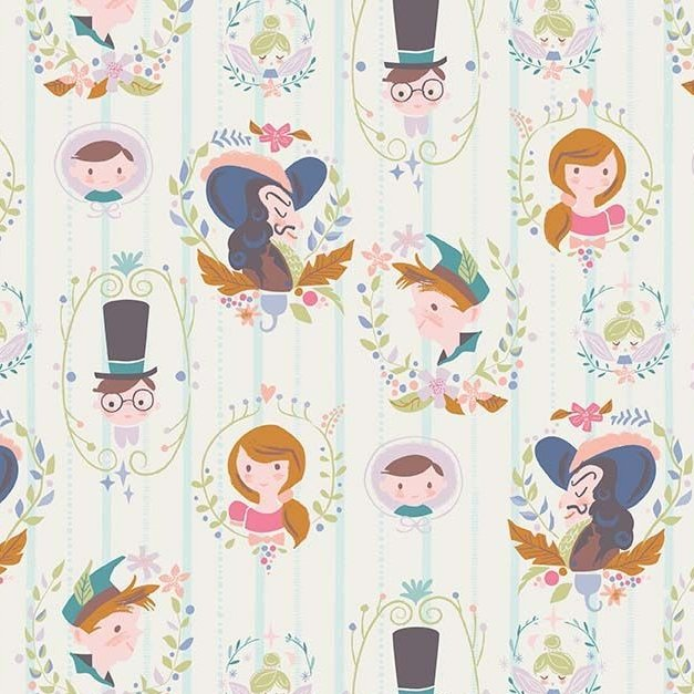 Neverland Darling Wall Cream Character Peter Pan Wendy Captain Hook Tinkerb