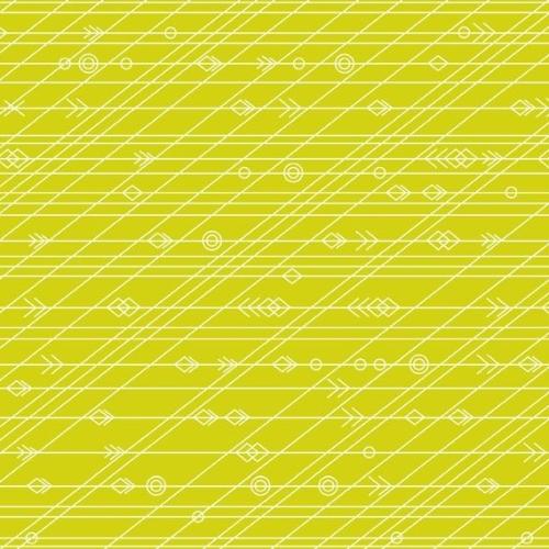 Diving Board Latitude Seaweed Green Lime Citrus Arrow Linear Geometric Arro