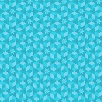 Diving Board Starfish Sea Glass Aqua Turquoise Quilt Star Geometric Stars Blender Cotton Fabric