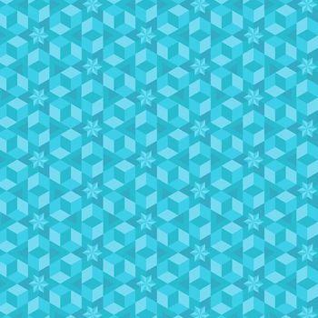 Diving Board Starfish Sea Glass Aqua Turquoise Quilt Star Geometric Stars Blender Cotton Fabric
